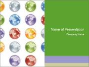 Planet in different colors PowerPoint Templates
