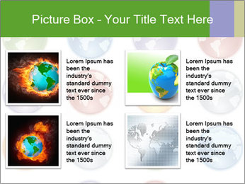 Planet in different colors PowerPoint Template - Slide 14