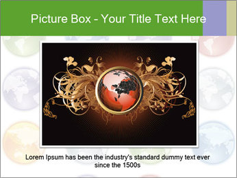 Planet in different colors PowerPoint Template - Slide 15