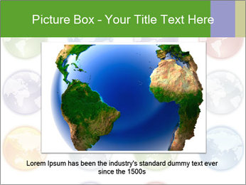 Planet in different colors PowerPoint Template - Slide 16