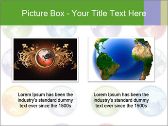 Planet in different colors PowerPoint Template - Slide 18