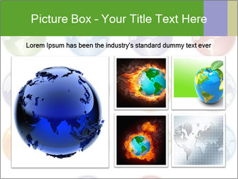 Planet in different colors PowerPoint Template - Slide 19