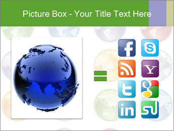 Planet in different colors PowerPoint Template - Slide 21