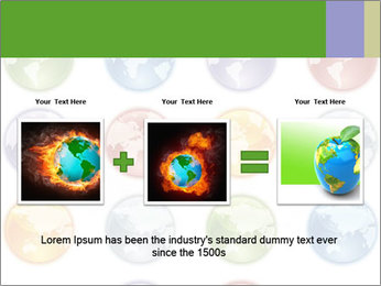 Planet in different colors PowerPoint Template - Slide 22