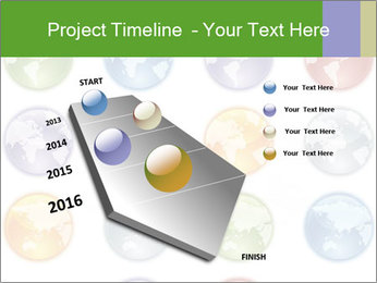 Planet in different colors PowerPoint Template - Slide 26