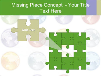 Planet in different colors PowerPoint Template - Slide 45