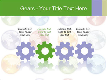 Planet in different colors PowerPoint Template - Slide 48