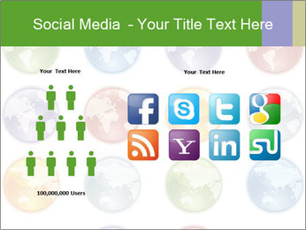 Planet in different colors PowerPoint Template - Slide 5