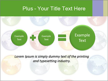 Planet in different colors PowerPoint Template - Slide 75
