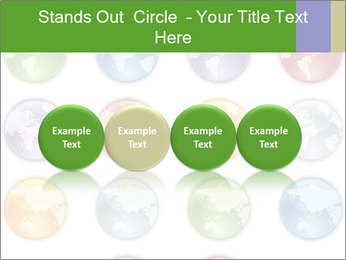 Planet in different colors PowerPoint Template - Slide 76