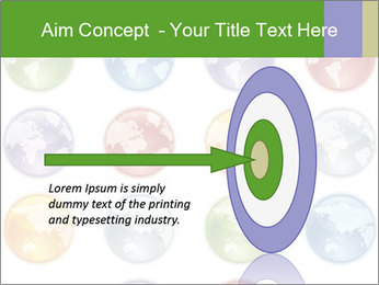 Planet in different colors PowerPoint Template - Slide 83