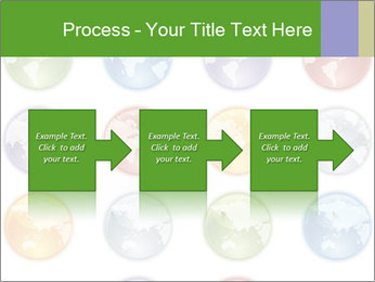 Planet in different colors PowerPoint Template - Slide 88
