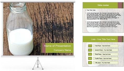 Bottle of milk PowerPoint Template