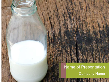 Bottle of milk PowerPoint Template