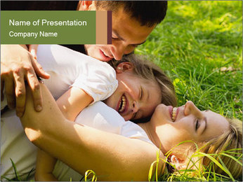 A happy family PowerPoint Template - Slide 1