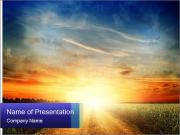 Incredible sunset PowerPoint Template