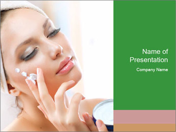 The face of a beautiful girl PowerPoint Template