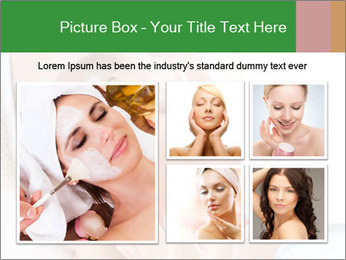 The face of a beautiful girl PowerPoint Templates - Slide 19