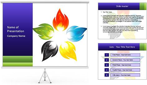 Fire flower PowerPoint Template