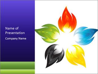 Fire flower PowerPoint Template - Slide 1