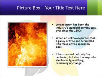 Fire flower PowerPoint Template - Slide 13