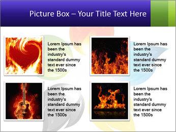 Fire flower PowerPoint Template - Slide 14