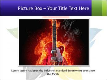 Fire flower PowerPoint Template - Slide 15