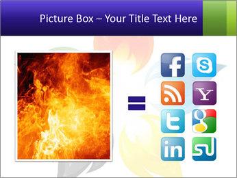 Fire flower PowerPoint Template - Slide 21