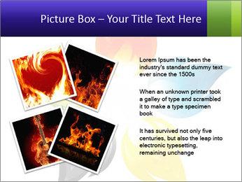 Fire flower PowerPoint Template - Slide 23