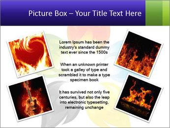 Fire flower PowerPoint Template - Slide 24