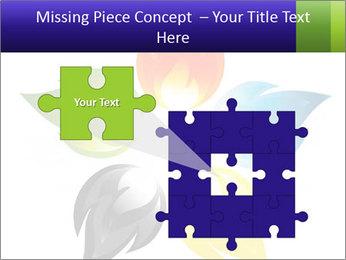 Fire flower PowerPoint Template - Slide 45