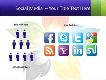 Fire flower PowerPoint Template - Slide 5