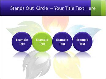 Fire flower PowerPoint Template - Slide 76