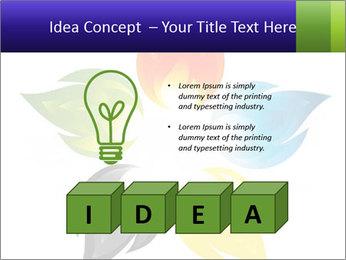 Fire flower PowerPoint Template - Slide 80