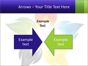 Fire flower PowerPoint Template - Slide 90