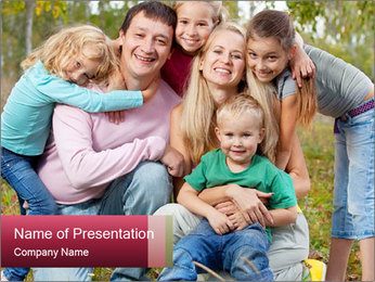 A family PowerPoint Template - Slide 1