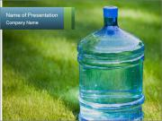 Bottle of water PowerPoint Template