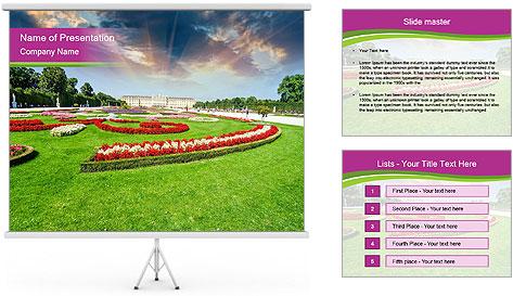 Gardens in Vienna PowerPoint Template