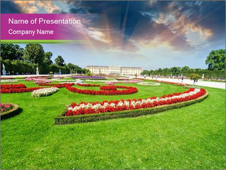 Gardens in Vienna PowerPoint Templates
