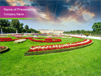 Gardens in Vienna PowerPoint Template