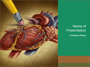 Drawing organs PowerPoint Template - Slide 1