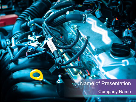 Car engine PowerPoint Templates