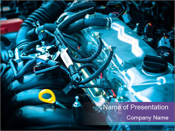 Car engine PowerPoint Templates - Slide 1