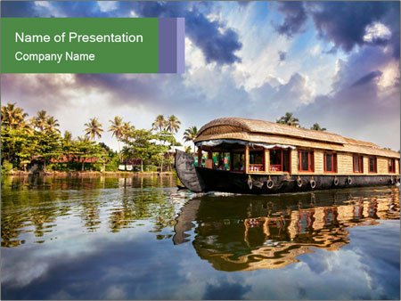Houseboat PowerPoint Templates