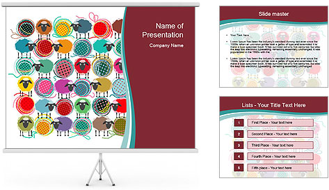 Drawn sheep PowerPoint Template