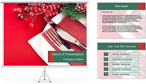 Table setting PowerPoint Template