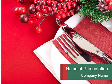 Table setting PowerPoint Templates