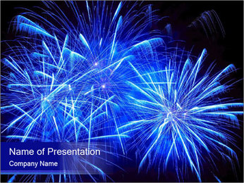 Firework PowerPoint Template - Slide 1