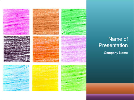 Multicolored squares PowerPoint Templates