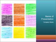 Multicolored squares PowerPoint Template
